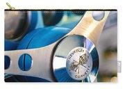 1958 Chevrolet Corvette Steering Wheel Carry-all Pouch by Jill Reger