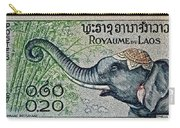 1958 Laos Elephant Stamp II Carry-all Pouch