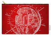 1958 Space Satellite Structure Patent Red Carry-all Pouch