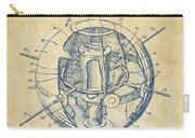 1958 Space Satellite Structure Patent Vintage Carry-all Pouch