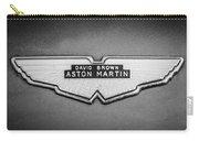 1959 Aston Martin Db4 Gt Hood Emblem -0127bw Carry-all Pouch