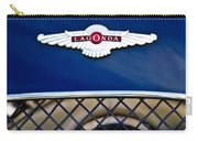 1959 Aston Martin Jaguar C-type Roadster Hood Emblem Carry-all Pouch by Jill Reger