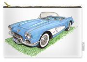 1959 Corvette Frost Blue Carry-all Pouch