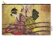 1959 Japanese Postcard Mail Carry-all Pouch