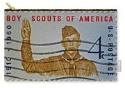 1960 Boy Scouts Stamp Carry-all Pouch