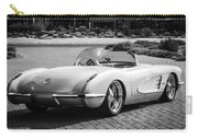 1960 Chevrolet Corvette -0880bw Carry-all Pouch