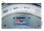 1960 Chevrolet Corvette Speedometer Carry-all Pouch by Jill Reger
