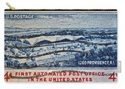 1960 First Automated Post Office Stamp Providence Rhode Island Carry-all Pouch