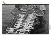 1960s Aerial Of Uss Saratoga Aircraft Carry-all Pouch