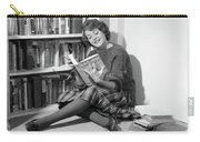 1960s Smiling Young Woman Teen Sitting Carry-all Pouch