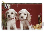 1960s Two Cocker Spaniel Puppies Carry-all Pouch