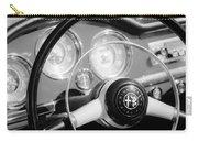 1961 Alfa Romeo Giulietta Spider Steering Wheel Emblem -1239bw Carry-all Pouch