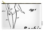 1961 Barbie Doll Patent Art 4 Carry-all Pouch