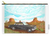 1961 Chevrolet Biscayne 409 In Monument Valley Carry-all Pouch