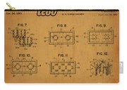 1961 Lego Building Blocks Patent Art 6 Carry-all Pouch