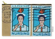 1962 Nursing Stamp Collage - Oakland Ca Postmark Carry-all Pouch
