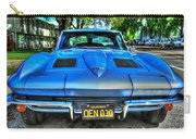 1963 Blue Corvette Stingray-front View Carry-all Pouch