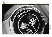1963 Chevrolet Corvette Split Window Steering Wheel Emblem -309bw Carry-all Pouch