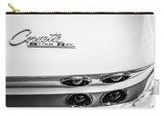 1963 Chevrolet Corvette Split Window Taillight Emblem -458bw Carry-all Pouch