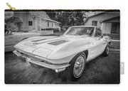 1963 Chevy Corvette Coupe Painted Bw    Carry-all Pouch