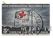 1963 Red Cross Stamp - San Francisco Postmark Carry-all Pouch