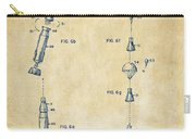 1963 Space Capsule Patent Vintage Carry-all Pouch