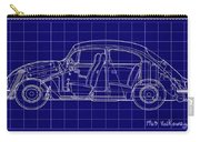 1963 Volkswagon Beetle Blueprint Carry-all Pouch