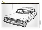 1964 Ford Galaxy Country Stationwagon Illustration Carry-all Pouch