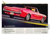 1964 - Ford Mustang Convertible - Advertisement - Color Carry-all Pouch