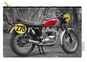 1964 Steve Mcqueen Isdt Carry-all Pouch by Mark Rogan