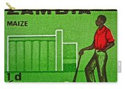 1964 Zambia Farmer Stamp Carry-all Pouch