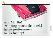 1965 - Rambler Marlin - Automobile Advertisement - Color Carry-all Pouch