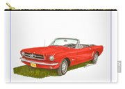 1965 Ford Mustang Convertible Pony Car Carry-all Pouch