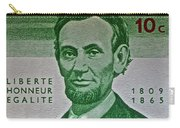 1965 Rwanda Abraham Lincoln Stamp Carry-all Pouch