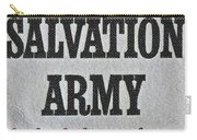 1965 Salvation Army Stamp Carry-all Pouch