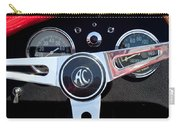 1965 Shelby Ac Cobra Roadster 289 Steering Wheel Emblem Carry-all Pouch