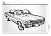 1966 Chevy Chevelle Ss 396 Illustration Carry-all Pouch
