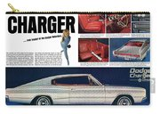 1966 Dodge Charger - New Leader Of The Dodge Rebellion Carry-all Pouch