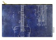 1966 Fender Acoustic Guitar Patent Drawing Blue Carry-all Pouch