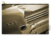 1966 Pontiac Gto Tail In Sepia Carry-all Pouch