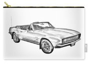 1967 Convertible Camaro Car Illustration Carry-all Pouch