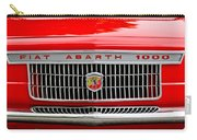 1967 Fiat Abarth 1000 Otr Grille Carry-all Pouch by Jill Reger