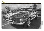 1967 Ford Shelby Mustang Gt500 Painted Bw Carry-all Pouch