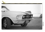 1967 Mustang Front In Black Carry-all Pouch