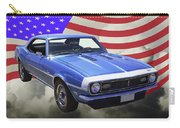 1968 Chevrolet Camaro 327 And United States Flag Carry-all Pouch