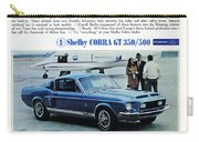 1968 Shelby Cobra Gt 350/500 Ford Mustang Carry-all Pouch