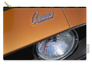1969 Chevrolet Camaro Headlight Emblem Carry-all Pouch by Jill Reger