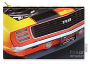 1969 Chevrolet Camaro Rs - Orange - Front End 7550 Carry-all Pouch