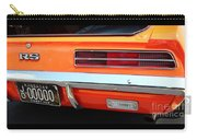 1969 Chevrolet Camaro Rs - Orange - Rear End - 7609 Carry-all Pouch