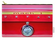 1969 Ford Mustang Mach 1 Rear Emblems Carry-all Pouch